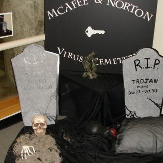 Virus grave yard photo op