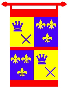 Pennant used for Middle Ages prop