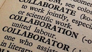 collaboration dictionary image
